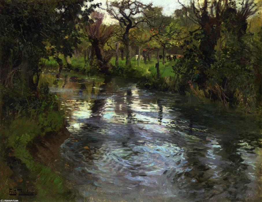 On the Banks by Frits Thaulow (1847-1906, Norway) | Art Reproduction | ArtsDot.com