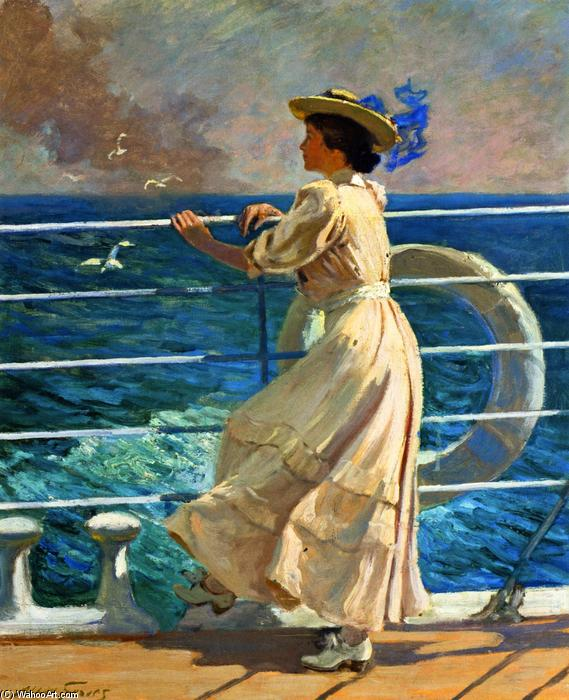 On the Deck, Oil On Canvas by Abbott Fuller Graves (1859-1936, United States)