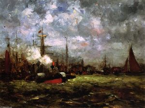 Dwight William Tryon - On the Maas
