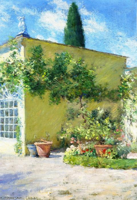 Orangerie of the Case Villa in Florence, Oil On Canvas by William Merritt Chase (1849-1916, United States)