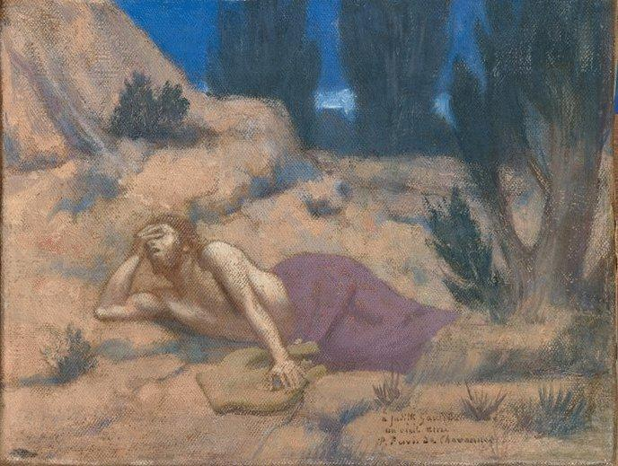 Orpheus, 1883 by Pierre Puvis De Chavannes (1824-1898, France)