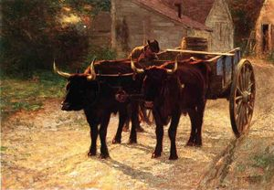 Edward Henry Potthast - The Ox Cart