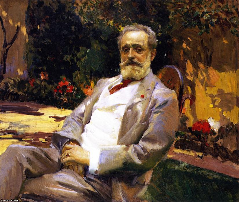 The Painter Raimundo de Madrazo y Garreta, Oil On Canvas by Joaquin Sorolla Y Bastida (1863-1923, Spain)