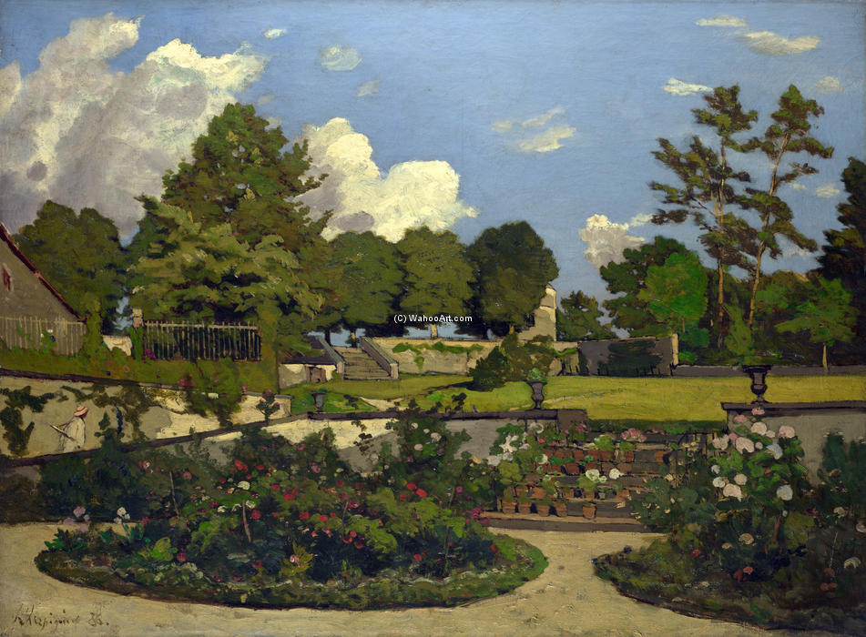 The Painter's Garden at Saint-Prive, Oil On Canvas by Henri-Joseph Harpignies (1819-1916, France)