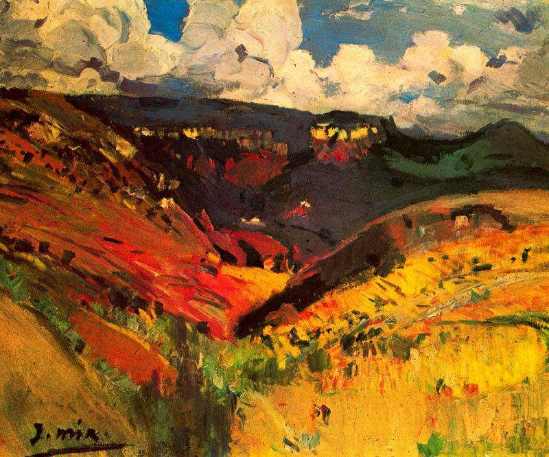 Paisaje by Joaquin Mir Trinxet (1873-1940, Spain)