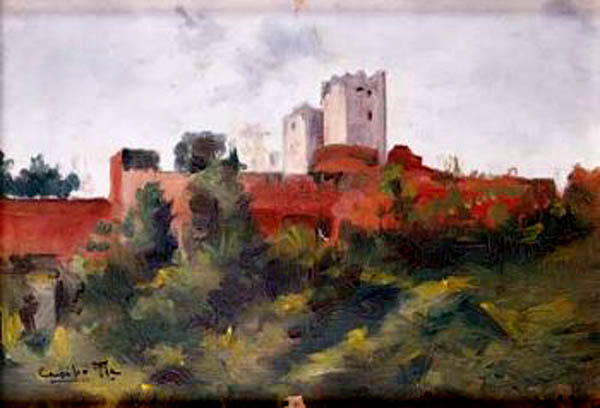 Paisaje, Oil On Panel by Cecilio Pla Y Gallardo (1860-1934, Spain)