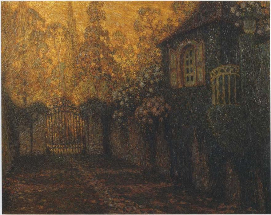 The Pavillion and the Alley, Oil On Canvas by Henri Eugène Augustin Le Sidaner (1862-1939, Mauritius)
