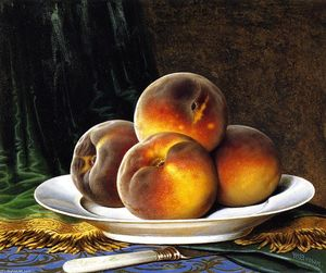 William Mason Brown - Peaches with White Plate