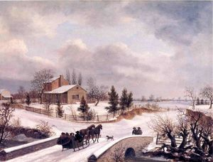 Thomas Birch - Pennsylvania Winter Scene