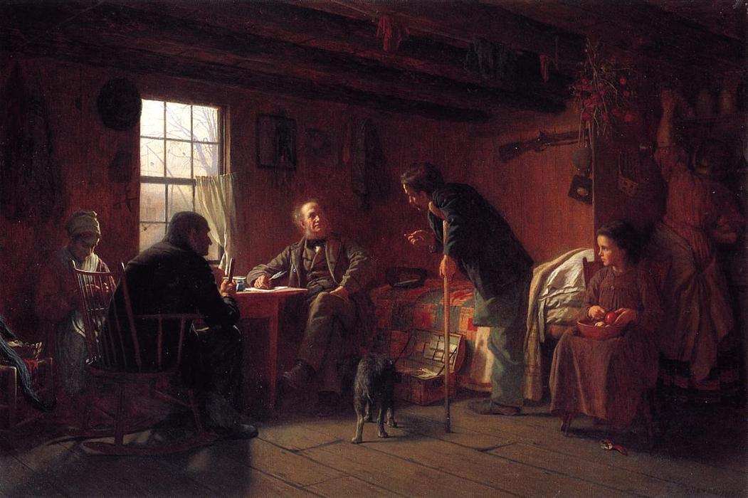 The Pension Claim Agent, 1867 by Jonathan Eastman Johnson (1824-1906, United Kingdom) | Paintings Reproductions Jonathan Eastman Johnson | ArtsDot.com