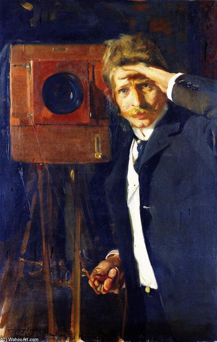 The Photographer Christian Franzen, Oil On Canvas by Joaquin Sorolla Y Bastida (1863-1923, Spain)
