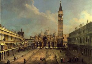 Giovanni Antonio Canal (Canaletto) - Piazza San Marco: Looking East along the Central Line