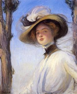Edmund Charles Tarbell - The Picture Hat