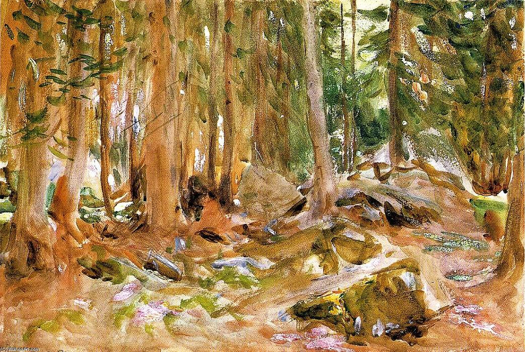 Pine Forest, 1907 by John Singer Sargent (1856-1925, Italy) | Museum Art Reproductions John Singer Sargent | ArtsDot.com