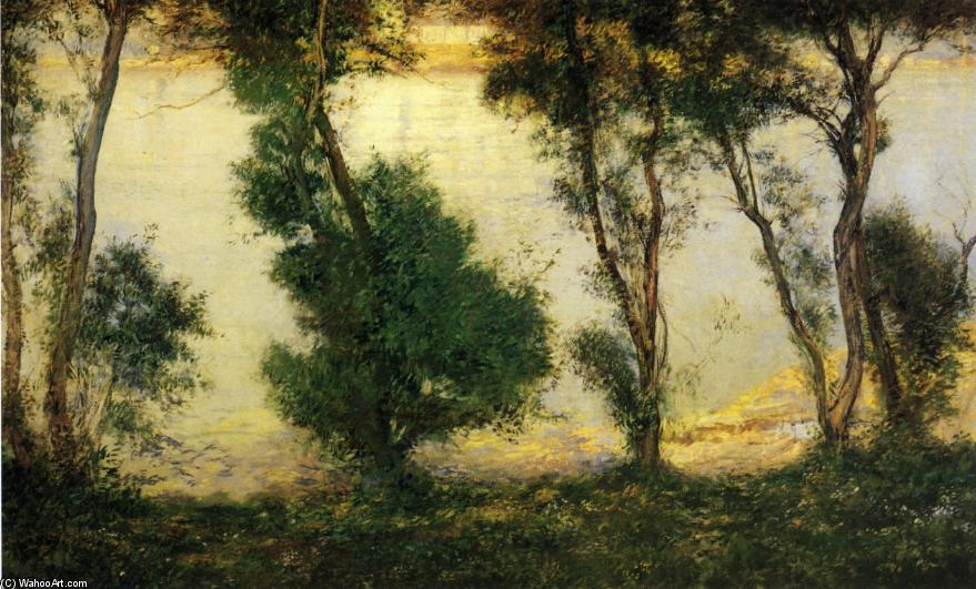 Piscatagua River from the Tabell Home, 1909 by Edmund Charles Tarbell (1862-1938, United States) | Museum Art Reproductions | ArtsDot.com