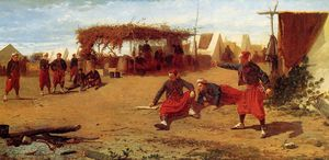 Winslow Homer - Pitching Quoits (also known as Pitching Horseshoes or Quoit Players)