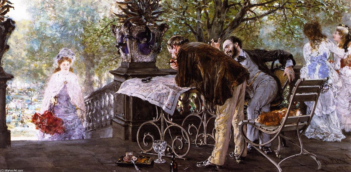 Planing a Journey, 1875 by Adolph Menzel (1815-1905, Poland) | Museum Quality Reproductions | ArtsDot.com