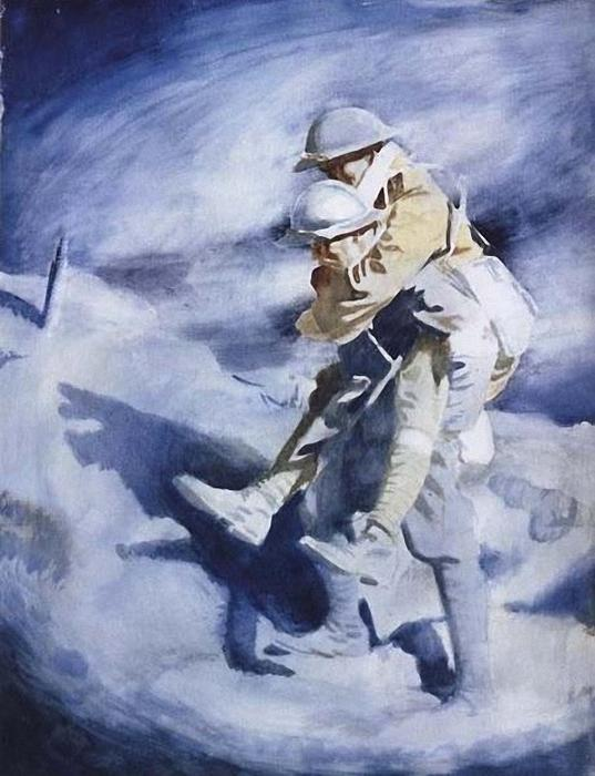 Poilu and Tommy by William Newenham Montague Orpen (1878-1931, Ireland) | Art Reproduction | ArtsDot.com