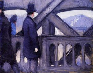 Gustave Caillebotte - The Pont de Europe (study) (also known as Port de l-Europe)