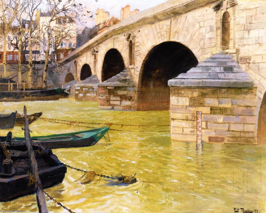 The Pont Marie, Paris, Oil On Canvas by Frits Thaulow (1847-1906, Norway)