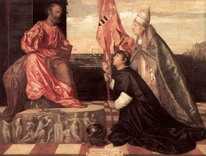Tiziano Vecellio (Titian) - Pope Alexander IV Presenting Jacopo Pesaro to St Peter