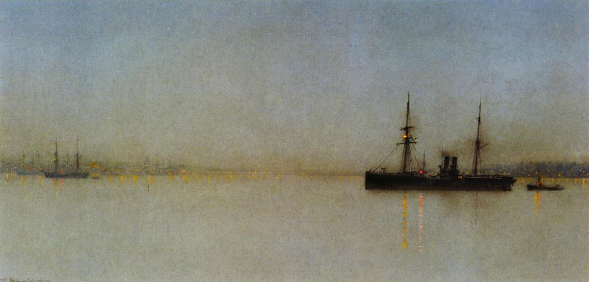 The Port LIght, Oil On Panel by John Atkinson Grimshaw (1836-1893, United Kingdom)
