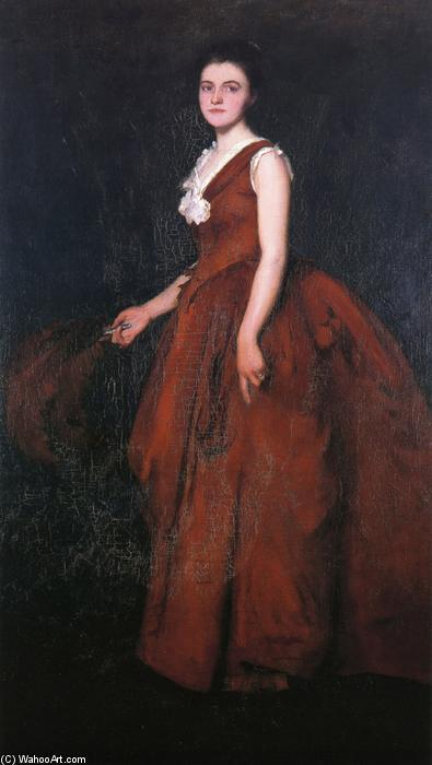 Order Art Reproduction : A Portrait (also known as Madame Tarbell), 1889 by Edmund Charles Tarbell (1862-1938, United States) | ArtsDot.com