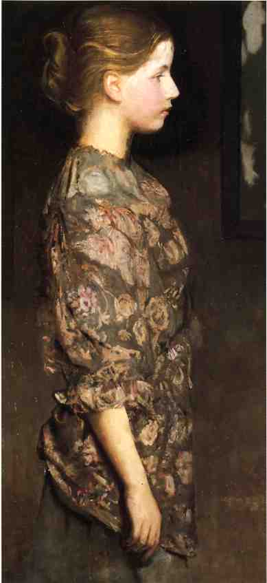 Portrait of Alice rich, Oil On Panel by Abbott Handerson Thayer (1849-1921, United States)