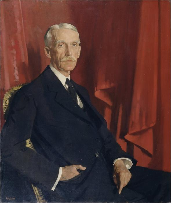 Portrait of Andrew W. Mellon, 1924 by William Newenham Montague Orpen (1878-1931, Ireland)
