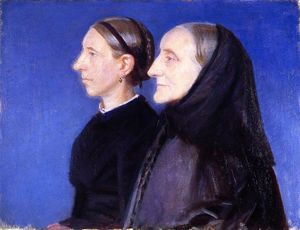 Anna Kirstine Ancher - Portrait of Ane Hedvig Brøndum and Her Daughter Hulda