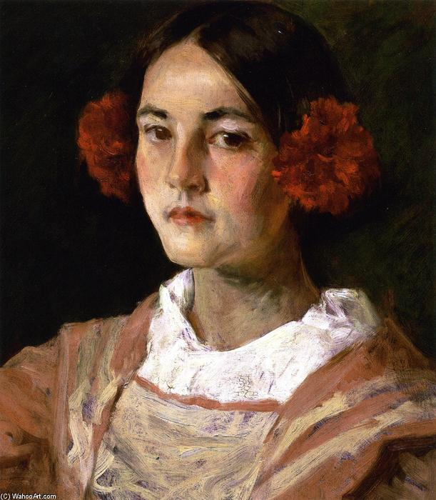 Portrait of the Artist's Daughter, Alice (also known as Gitana), 1899 by William Merritt Chase (1849-1916, United States) | ArtsDot.com