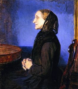Anna Kirstine Ancher - Portrait of the Artist-s Mother, Ane Hedvig Brondum