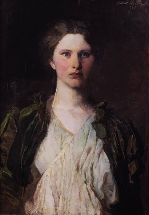 Portrait of Bessie Price, 1897 by Abbott Handerson Thayer (1849-1921, United States)
