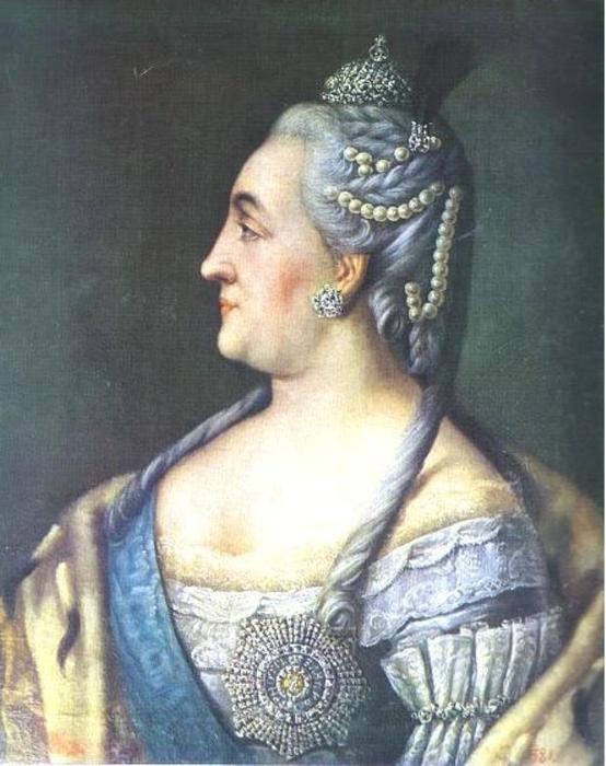 Portrait of Catherine II the Great, Oil On Canvas by Alexey Petrovich Antropov (1716-1795, Russia)