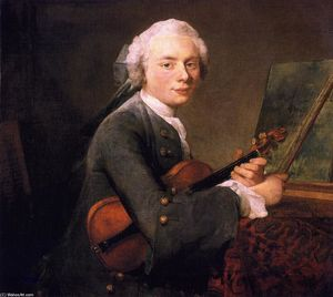 Jean-Baptiste Simeon Chardin - Portrait of Charles-Theodose Godefroy (also known as Young Man with a Violin)