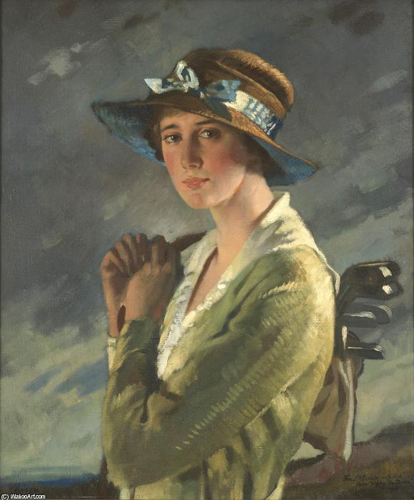 Portrait of Dolly Stiles by William Newenham Montague Orpen (1878-1931, Ireland) | Art Reproduction | ArtsDot.com