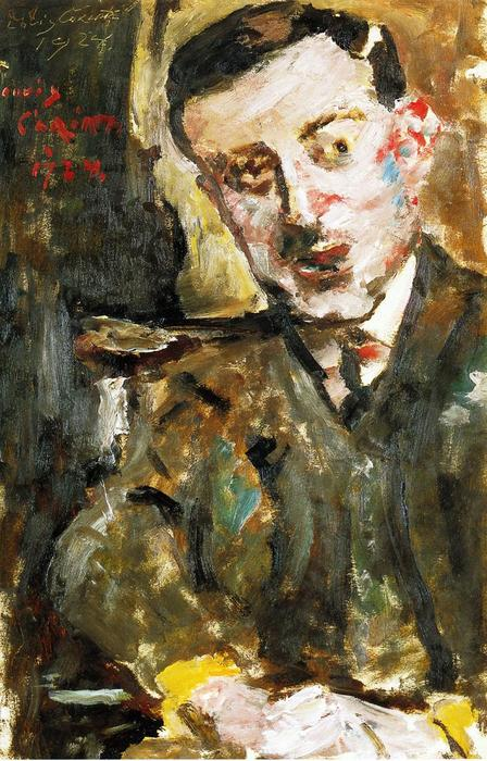 Portrait of Dr. Arthur Rosin in a Chair, Painting by Lovis Corinth (Franz Heinrich Louis) (1858-1925, Netherlands)