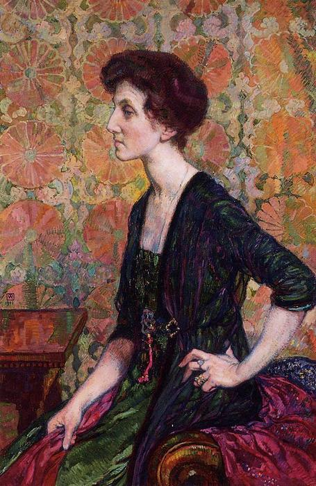 Portrait of Else Lampe Von Quita, 1911 by Theo Van Rysselberghe (1862-1926, Belgium)