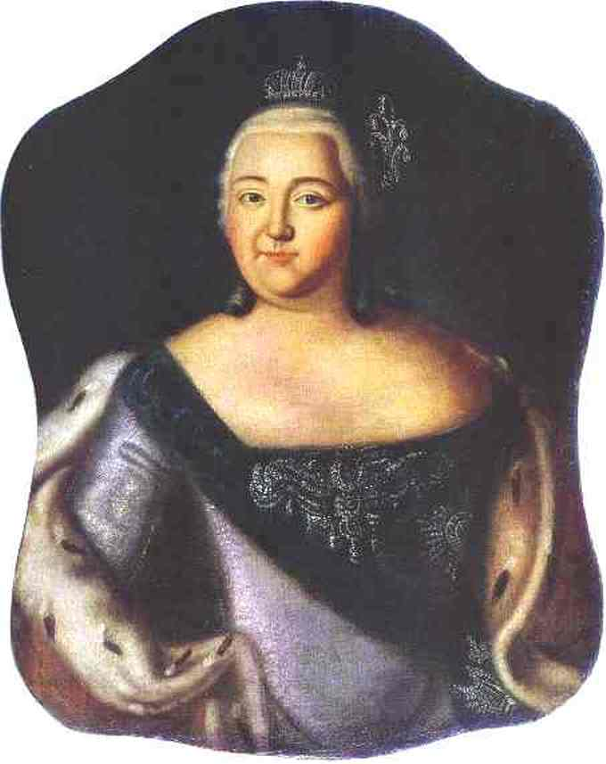 Portrait of Empress Elizaveta Petrovna, Oil On Canvas by Alexey Petrovich Antropov (1716-1795, Russia)