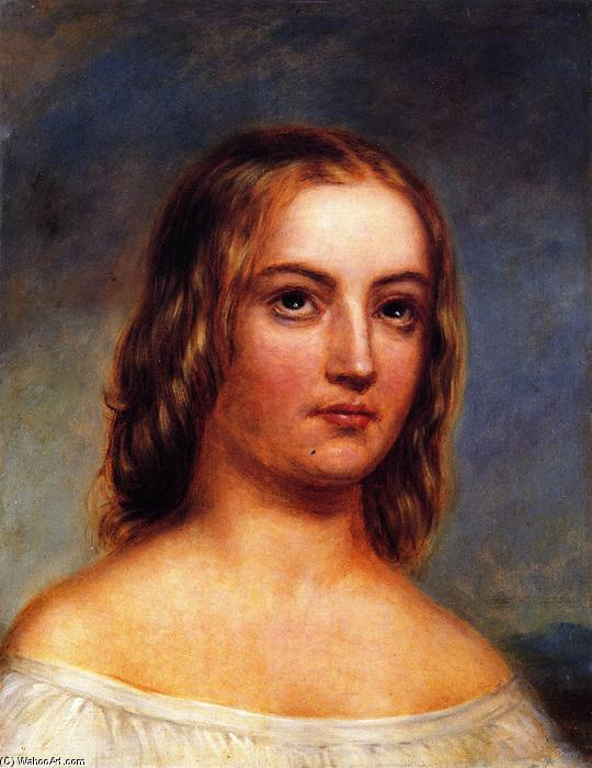 Portrait of a Girl, Painting by Charles Bird King (1785-1862, United States)