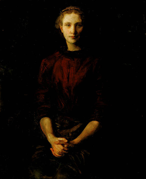Buy Museum Art Reproductions : Portrait of a Lady (also known as Mrs. William B. Cabot), 1900 by Abbott Handerson Thayer (1849-1921, United States) | ArtsDot.com