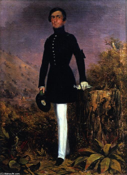 Portrait of Lieutenant Henry Whiting, Oil On Canvas by Charles Deas (1818-1867, United States)