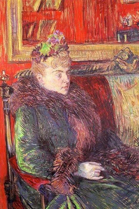Portrait of Madame de Gortzikolff, Oil by Henri De Toulouse Lautrec (1864-1901, France)