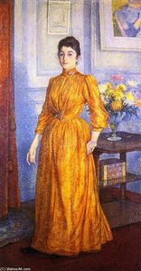 Theo Van Rysselberghe - Portrait of Madame V.R.