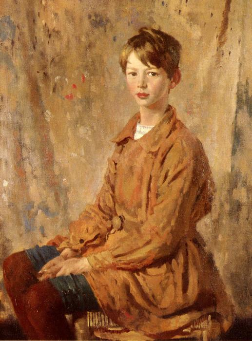 Portrait Of Master Spottiswoode by William Newenham Montague Orpen (1878-1931, Ireland)