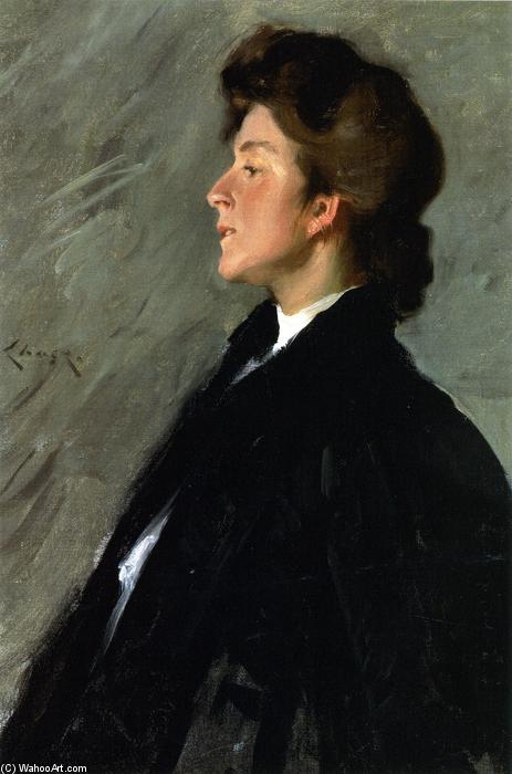 Portrait of Miss Bellemy (also known as Miss Bellemy), Oil On Canvas by William Merritt Chase (1849-1916, United States)