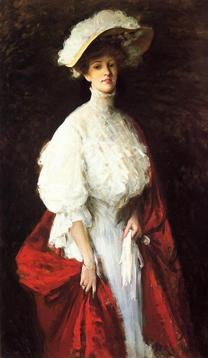 Portrait of Miss Frances Vonlohr Earle, Oil On Canvas by William Merritt Chase (1849-1916, United States)