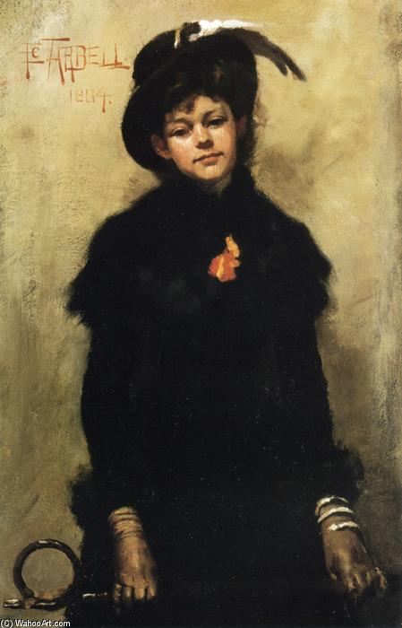 Portrait of Miss McKay, Oil On Canvas by Edmund Charles Tarbell (1862-1938, United States)