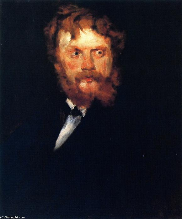 Portrait of Mr. Drindel, Oil On Canvas by William Merritt Chase (1849-1916, United States)