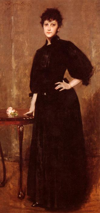 Portrait of Mrs. C., Oil On Canvas by William Merritt Chase (1849-1916, United States)